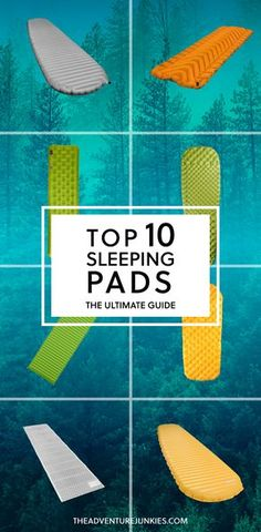 Top 10 Best Backpacking Sleeping Pads – Best Camping Gear – Hiking Gear For Beginners – Backpacking Equipment List for Women, Men and Kids