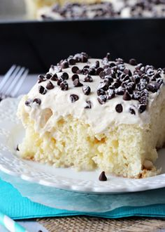 Cannoli Poke Cake - Life Love and Sugar