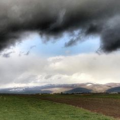 #rain #wind #snow #sunshine #blackcloud and fluffy white ones all at the same time. A real mix of #weather #sfantugheorghe #romania #angrysky #wierdweather #travel #walking #hiking #countryside