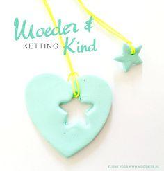 Cute Mothersday DIY FIMO Necklace. Moodkids: Knutselen voor moederdag. | Mothersday DIY - Roest Haakt #DIY