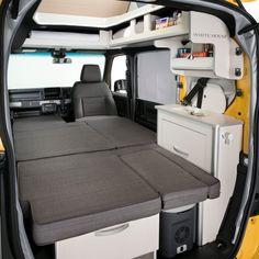 "N-VANキャンパー クルマ旅に新しいカタチ。新発想の""ダブルビッグ大開口""や助手席側ピラーレスやフラットになる助手席を活かしたフラットベッドなど、充実した装備を実現したN-VANキャンパーの紹介です。 Mini Camper, Camper Van, Truck Mods, Suzuki Jimny, Rv Interior, Exotic Cars, Car Seats, Honda, Vehicles"