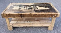 Pallet Coffee Table with Recycled Wood Shelf | 99 Pallets