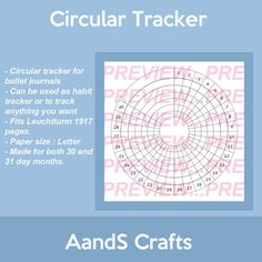 Circular Tracker Habit Tracker Monthly Tracker by AnSCraftsStore