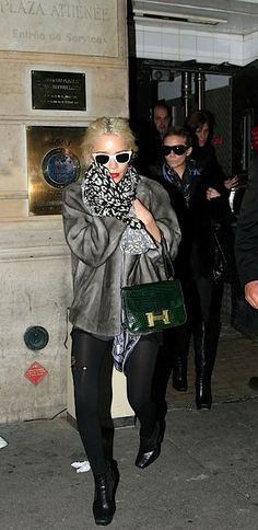 The Many Bags of The Olsen Twins, vintage Hermes Constance in green crocodile. Love!!!!!!