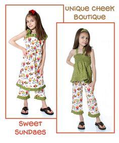 Handmade Sweet Sundaes Dress Custom Sizes 12 months through Girls 12 by uniquefavors on Etsy