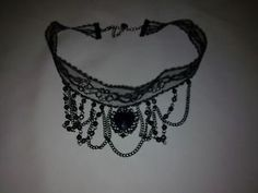 Claires Accessories Vintage Black Lace Beaded Choker BNWT | eBay