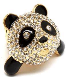 2015-New-Arrived-Size-Adjustable-Rhinestone-Gold-Plated-Glazed-China-Panda-Ring