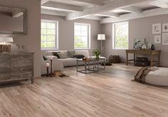 Suelo imitación madera antideslizante Cap Ferret, Hardwood Floors, Flooring, Bedroom Wall Colors, Living Spaces, Living Room, Ceiling Design, Building A House, Tile Floor