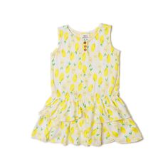 Ruffle Bottom Cotton Dress   egg by susan lazar   http://www.egg-baby.com/shop/ruffle-bottom-cotton-dress_yellow/