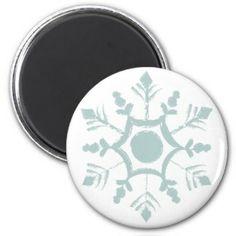 Snowflake Refrigerator Magnets
