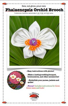Phalaenopsis Orchid Brooch Pattern cover