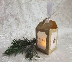 Instructions Lantern lit candle-Stampin The Effective Pictures We Offer You About DIY Candles making A quality picture can tell you many things. You can find the most beautiful pictures that can be pr Stampin Up Christmas, Christmas Diy, Christmas Bulbs, Christmas Cards, Stampin Up Weihnachten, Diy Weihnachten, Creative Box, Candle Labels, Scrapbooking