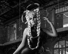 READY TO SHIP Silver white Hunger Games Inspired wig headdress headpiece avant garde fantasy fairy synthetic hair