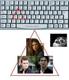 The Vampire Diaries Love Triangle on Keyboard :D