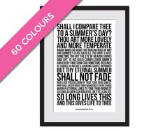 Sonnet 18 William Shakespeare  Shall I Compare by FolioCreations