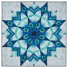 Matsuri Quilt Kit By Christine Stainbrook Lone Star Quilt Pattern, Star Quilt Blocks, Star Quilt Patterns, Star Quilts, Nancy Zieman, Keepsake Quilting, Quilt Modernen, Log Cabin Quilts, Quilt Kits