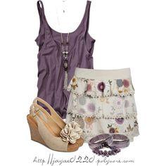 """""""Floral Wedges & Floral Skirt"""""""