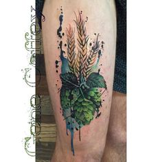 Beer tattoo ideas: Lil bit a barley lil bit a hops and ta da. Body Art Tattoos, Sleeve Tattoos, Cool Tattoos, Tatoos, Tattoo Art, Hop Tattoo, Storm Tattoo, Beer Art, Tattoo Project
