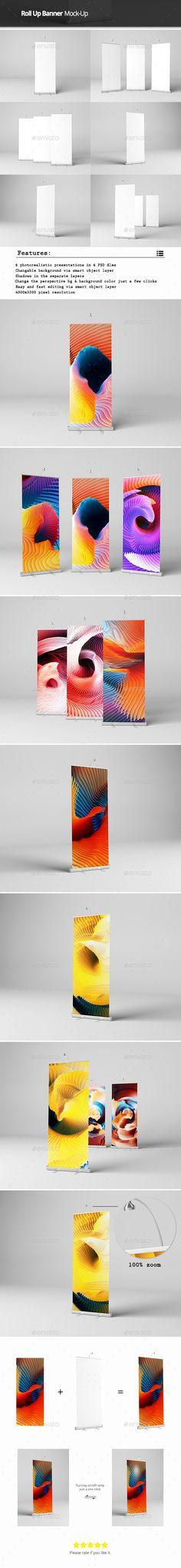 Roll Up Banner Mock-Up #design Download: http://graphicriver.net/item/roll-up-banner-mockup/12849901?ref=ksioks