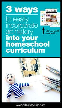 3 ways to easily incorporate art history into your homeschool curriculum — Art History Kids - Homeschool art history curriculum planning made easy - Art History Timeline, Art History Major, Art History Memes, Art History Lessons, History For Kids, Art Lessons, Homeschool Curriculum, Curriculum Planning, Lesson Planning