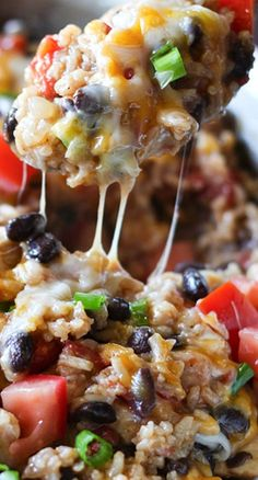 One-Pot Chicken Burrito Bowls Recipe ~ packed with flavor and so easy to make
