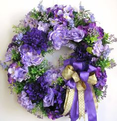 Spring Wreath Mother's Day Wreath Summer Wreath by WreathbyHH, $119.95