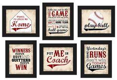 PRINTABLE Custom Baseball Theme Home Decor Set by LostSockDesigns