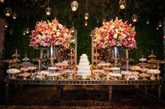Casamento romântico: velas suspensas