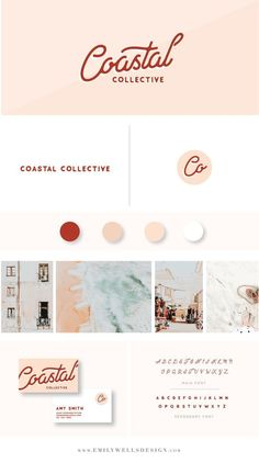 Coastal Collection Branding Board For The Feminine And Minimal Entrepreneur * coastal collection branding board für den weiblichen und minimalen unternehmer Coastal Collection Branding Board For The Feminine And Minimal Entrepreneur * Web Design, Fashion Logo Design, Fashion Branding, Layout Design, Fashion Logos, Creative Design, Corporate Design, Brand Identity Design, Graphic Design Branding