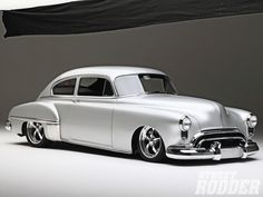 1949 Oldsmobile 88 Silver Rocket looks awesome with Boyd Wheels