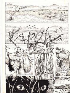 """Titolo fumetto: """"La preda"""" Pagina 1 credits@StefanoCortese"""