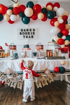 Baseball Theme Birthday, Boys First Birthday Party Ideas, One Year Birthday, First Birthday Party Themes, Birthday Themes For Boys, 1st Boy Birthday, Boy Birthday Parties, Baseball Party, First Birthdays