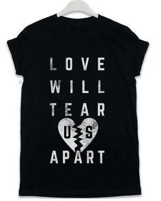 Love Will Tear Us Apart - Lyric Quote T Shirt - Black / 3XL