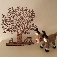 Christmas Tree, Reindeer and Elf Knitting pattern by Knitables How To Start Knitting, Double Knitting, Festival Decorations, Christmas Tree Decorations, Crochet Patterns Amigurumi, Knitting Patterns, Cable Knit Blankets, Crochet Fall, Christmas Characters