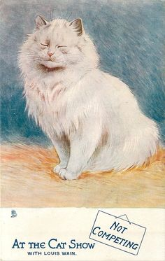 Not Competing, from the At The Cat Show series, United Kingdom, date unknown, by Louis Wain.