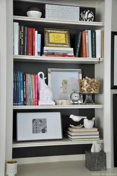 honey were home spring living room - Media Cabinet With Bookshelves