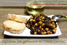 Las recetas de Triana: Espinacas con garbanzos en Triana (Sevilla)