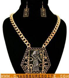 Egyptian Pharaoh Gold Necklace