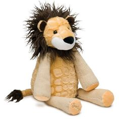 "Roarbert the Lion Scentsy Buddy    Ferociously huggable and with a wild mane, Roarbert the Lion is 5.5"" wide, 9.5"" tall when seated, and 15.5"" tall from head to toe. He comes alive with fragrance when you place a Scent Pak in the zippered pocket in his back."
