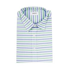 15b4623e67 Connor Shirt Mint- Blue Stripe – Hyden Yoo