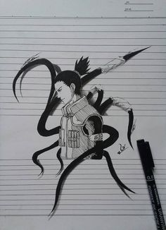 Naruto And Shikamaru, Naruto Art, Naruto Shippuden Anime, Anime Naruto, Naruto Sketch, Naruto Drawings, Anime Sketch, Naruto Tattoo, Anime Tattoos