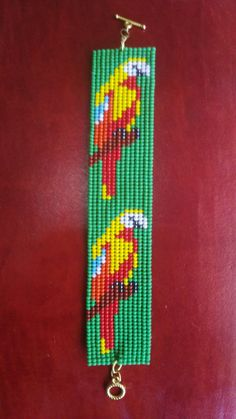 Parrot, Personalized Items, Patterns, Logos, Binder, Bracelets, Ornaments, Grey, Embroidery