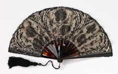Fan Designer: Mor Weisz  (Austrian) Date: 1895–1910 Culture: Austrian Medium: tortoiseshell, silk, cotton, paper