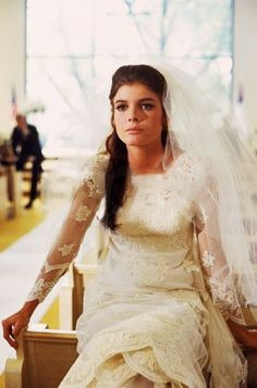 "katharine ross in ""the graduate,"" 1967"