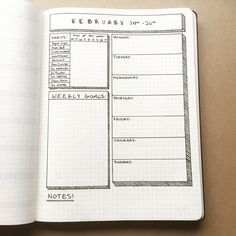 """Polubienia: 1,533, komentarze: 11 – Alec Fischer (@fischrjournals) na Instagramie: """"This week's spread #beforethepen - I made sure to give myself a ton of space for my weekly goals…"""""""