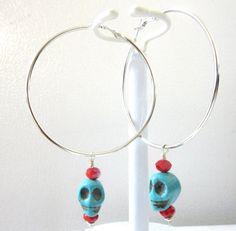 Day of the Dead Earrings Sugar Skull Jewelry by sweetie2sweetie, $12.99