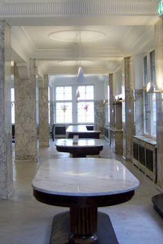 Der Marmorsaal von Kaffee HAG - dieses Kleinod kann heute besichtigt werden oder für Veranstaltungen gebucht werden.