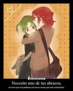 carteles abrazos inazuma eleven hiroto kiyama ryuuji midorikawa hiromido yaoi amor amistad anime.