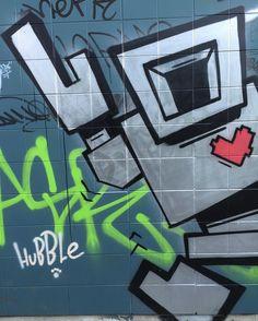 Lovebot @ Queen St West 2016.v.16 iPvi #graffiti #graffitiart #streetart #streetphotography #mural by tonychug
