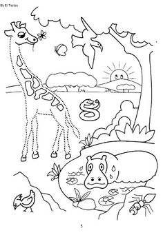 Printable worksheets for kids Connect the dots for Preschoolers 107 Zoo Preschool, Preschool Printables, Preschool Worksheets, Printable Worksheets, Zoo Coloring Pages, Coloring For Kids, Color Activities, Activities For Kids, Correspondence Cards